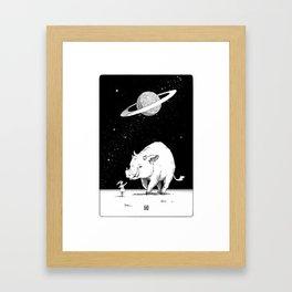 Edge of the universe: Warthog Framed Art Print