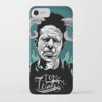 tom waits iPhone & iPod Cases featuring Tom Waits by Linnéa Ek