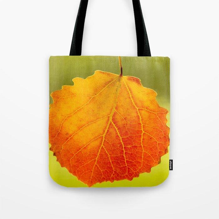 Orange Leaf Beautiful Color #decor #society6 Tote Bag