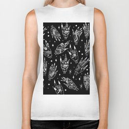 Floating Witchy Goth Hands Biker Tank