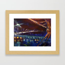 Ferris Wheel Night Framed Art Print