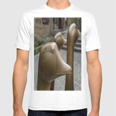 Geese of Sarlat White Mens Fitted Tee MEDIUM
