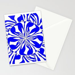 Zebra Kaleidoscope Blue and White Stationery Cards