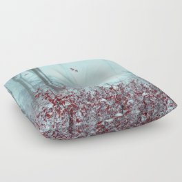 everything and more - winter forest Floor Pillow