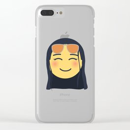 Nico Robin Emoji Design Clear iPhone Case