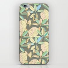 Leaf pattern | brown, pale yellow and green iPhone & iPod Skin