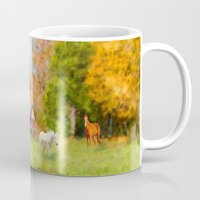 tennessee Mugs featuring Horse Farm in Tennessee by Mary Timman