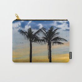 Palm Trees against Sunset Sky Carry-All Pouch