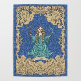 Vintage Astrology - Virgo Poster