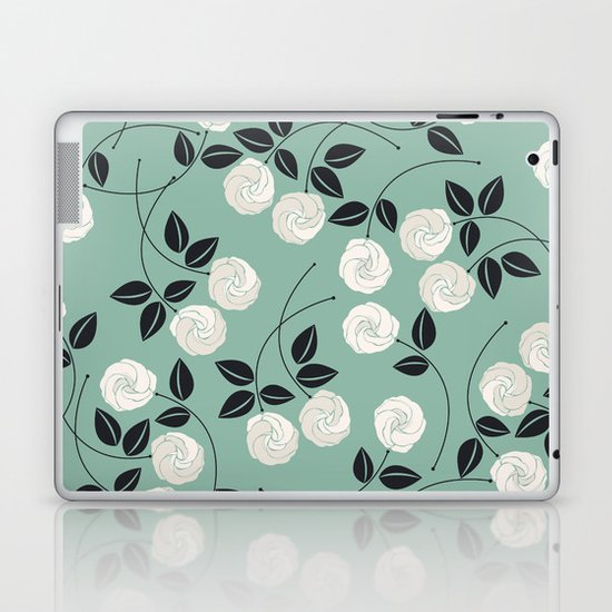 Pattern with white roses by ravendaria