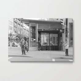 Across from Yaletown Roundhouse Skytrain station Metal Print