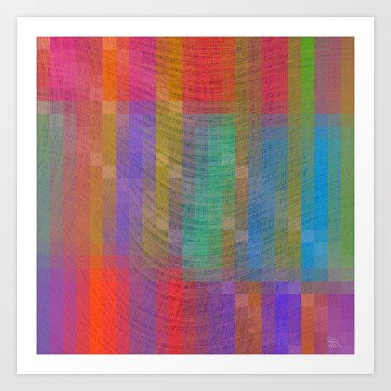 Purple Textured Pattern Art Print