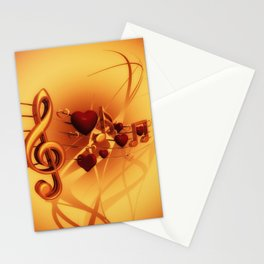 Clef Music Love Stationery Cards