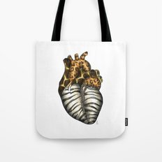 Heart gone wild - color  Tote Bag