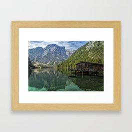 Lake Braies in Italy Framed Art Print