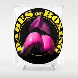 Babes of Boxing Shower Curtain
