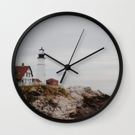 Maine lighthouse Wall Clock