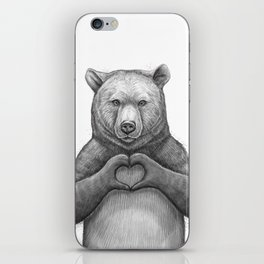 Bear with love iPhone Skin