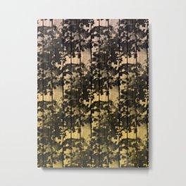 Leaf Shadows on Deck - nude2yellow Metal Print