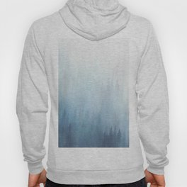 Abstract Blue Ombre Misty Forest Hoody