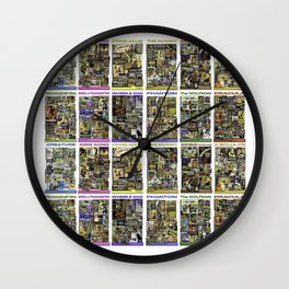 12 Vintage Movie Posters horror by JC LOGAN 4 Simply Blessed Wall Clock