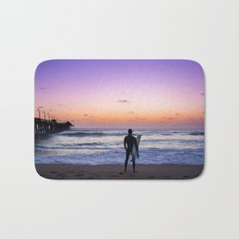 Surfer at Sunset Bath Mat