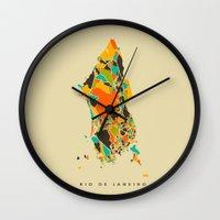 rio Wall Clocks featuring Rio  by Nicksman