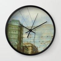 milan Wall Clocks featuring Milan - Underground by Sandra Liarte