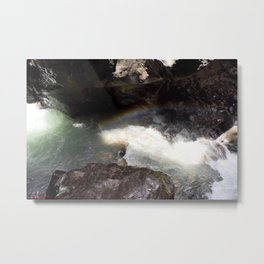 Box Canyon Falls - Rainbow on the Mist Metal Print