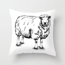 Sheep Sheep. Throw Pillow