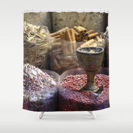 Spice souk Dubai Shower Curtain