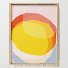 Tropical Sunny Day (Abstract) Serving Tray