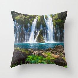 Burney Falls Delight Throw Pillow