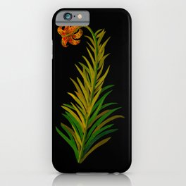 Lilium Byzantinum by Mary Delany Paper Collage Floral Flower Botanical Paper Mosaic Vintage Scientif iPhone Case