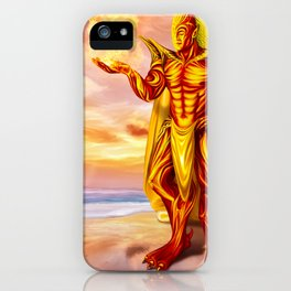 Dwain God of fire iPhone Case