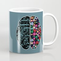 brain Mugs featuring Brain by BlueLela