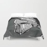 gladiator Duvet Covers featuring GLD by karakalemustadi