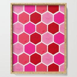Hexagon Honeycomb Pattern – Valentine Palette Serving Tray
