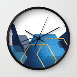 Abstract Geo Landscape Part 2 Wall Clock
