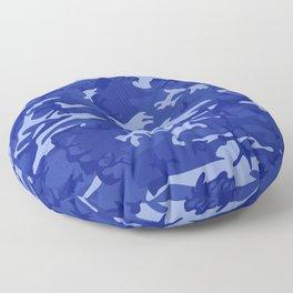 Bright Blue Camo Pattern Floor Pillow