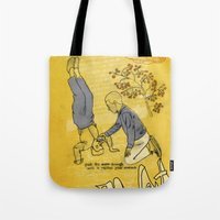 hiccup Tote Bags featuring Modesto! Hiccup by MODESTo! Prints