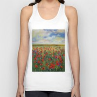 poppies Tank Tops featuring Poppies by Michael Creese