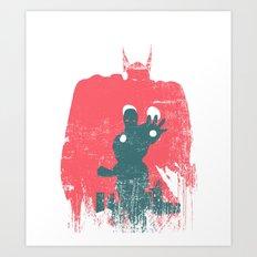 Superheroes minimalist - Thor  Art Print