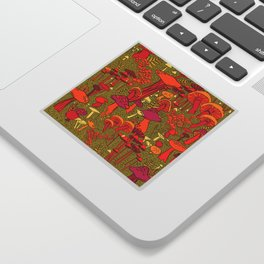 Mushrooms in the Forest Sticker