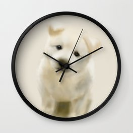 Jindo puppy re Wall Clock