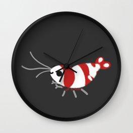Crystal red shrimps Wall Clock