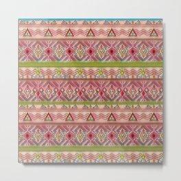 Pink ethnic ornament Metal Print