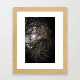 along the green line Framed Art Print