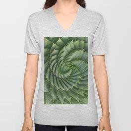 Green spirale Unisex V-Neck