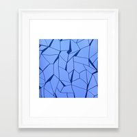 blueprint Framed Art Prints featuring BluePrint by Elina Larsson